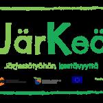 """Järkeä -hankkeen logo, jossa hankkeen nimi """"Järkeä"""" sekä slogan """"Järjestötyöhön kestävyyttä"""". Logon alla on rahoittajien logokimara."""